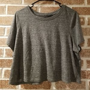 Forever 21 womens plus size cropped t-shirt